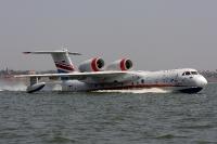 מטוס הכיבוי הרוסי. הברייב BE200 מסוגל לפעול במים מעומק של 2.0 מטרים וגלים בגובה 1.5 מטרים בחיל האוויר צילום יצרן