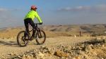 מבחן אופניים מרידה ביג טרייל 800. צמיגים שמנים סופגים הרבה מפני השטח ומספקים אחיזה רבה. השלדה עליזה וששה להשתובבות. משקל עצמי ניכר. צילום: רוני נאק