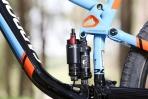 """מבחן אופניים cannondale trigger 4. לב פיצול האישיות - בולם DYAD של FOX - מחליף בין מהלך של 80 ל-130 מ""""מ ומשפיע על הגיאומטריה. צילום: תומר פדר"""