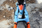 מבחן אופניים cannondale trigger 4. מוט המושב מוטה כדי לפנות מקום למעביר הקדמי ולמתלה הא-סימטרי. צילום: תומר פדר