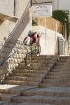 מבחן אופני הרים, קנונדייל ג\'אקיל 2012. לא דרמה! בולמי הזעזועים המצויינים של FOX יחד עם שלדה מוצקה מאד ובלמים נהדרים, שימאנו XTR, הופכים מורד כזה לכיף גדול. צילום: פז בר