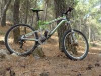 מבחן אופני הרים, קנונדייל ג\'אקיל 2012. ירוק ויפה. השלדה אולי כבר לא מיוצרת בעבודת יד בארה
