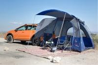 """אין כזה לאף אחד אחר! בלעדי ל""""שטח"""" אוהל משפחתי המתחבר לכל רכב פרטי ורכב שטח או פנאי. המחיר 990 שקלים בלבד למשלוח מיידי. צילום: תומר פדר"""