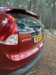 מבחן רכב הונדה CR-V. שומר על הגנים: פנסים אחוריים המטפסים על הקורה האחורית - ממאפייני הדגם. צילום: פז בר