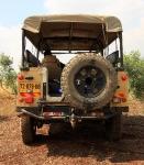 מבחן רכב לנד רובר דיפנדר 110. פינות המרכב ממוגנות היטב צילום: רמי גלבוע