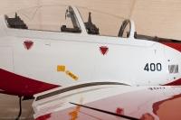 מטוס עפרוני מצויד בכסאות מפלט שלא היו בצוקית הוותיקה. צילום תומר פדר