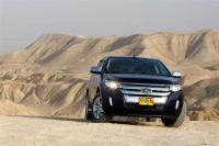 פורד אדג\' 2011 במבחן שטח. אור אחרון במדבר יהודה - מראה יפה של החזית החדשה - זווית נוספת צילום פז בר