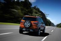 פורד אקוספורט. רכב פנאי קומפקטי מתבסס על פלטפורמה ג\'נרית יחד עם מאזדה 2 ופורד פיאסטה. צילום: פורד