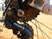מבחן אופניים Ghost ASX4900. מעביר אחורי שימאנו ד\'אור מדלג בין תשעה הילוכים של הקסטה. לא היו כאן הפתעות. צילום: רוני נאק