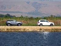 מבחן רכב מרצדס GLK. ריינג\' רובר מול מרצדס. GLK מזוות ורבוע, איווק עגלגל ואתלטי. לריינג\' זוויות מרכב ודינאמיות עדיפים, המרצדס נוח יותר. צילום: רוני נאק