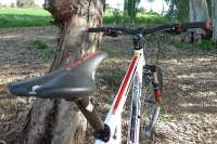 מבחן אופניים GT Avalanche 4.0. שלדת triple triangle  אוכף WTB ואביזרים היקפיים (כידון,סטם וכיוב\') מ-AllTerra. צילום: פז בר