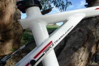 מבחן אופניים GT Avalanche 4.0. שלדת triple triangle  הוותיקה ואהובה לא מאכזבת. עשויה מאלומיניום 6061 ומיוצרת בסין. צילום: פז בר