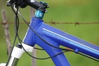 מבחן אופניים GT KARAKORAM. תקריב על הלחמות השלדה, גימור, ניתוב הכבלים. צילום: פז בר