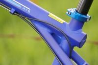 מבחן אופניים GT KARAKORAM. צומת השלדה האחורית - שימוש לב להלחמות ולכיתוב GT בקצה הצינור העליון המעוין צילום: פז בר