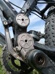 אופני הרים במבחן שטח. GT sensor 9r expert. זרוע אנטי-טורק במתלה iDrive יעיל מאד צילום: פז בר