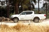 מיצובישי האנטר משופר גתוס במבחן דרכים. מנוע חזק, ומתלים מגהצים הם מתכון לנהיגת שטח בטוחה. צילום: פז בר