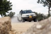 מיצובישי האנטר משופר גתוס במבחן דרכים. עדיין מעט רוכן בסיבובים. צילום: פז בר