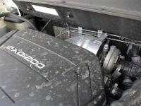 סאניונג קוראנדו במבחן שטח. מגדש הטורבו שוכן בין המנוע לקיר האש ויש לו מה לומר לנהג כמעט בכל מצב.  צילום: פז בר