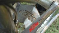 אופני הרים במבחן שטח. ק.ט.מ. לייקן עם מגן מתלה אולי גורף בוץ ממותג KTM זו הקפדה על פרטים!צילום: פז בר