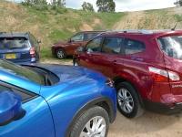 מבחן רכב: סובארו פורסטר מול מאזדה CX5 מול מיצובישי אאוטלנדר מול ניסאן קאשקאי - מי יהיה הג'יפון הבא של ישראל? צילום: פז בר