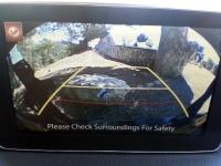 בייקמוביל מאזדה 3 החדשה. מצלמת חניה מקורית, תמונה בהירה מוקרנת ממסך 7 אינץ\'. צילום: רוני נאק
