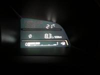 בייקמוביל מאזדה 3 החדשה. צריכת הדלק עם אופניים על הגב אחרי אותו מניין קילומטרים: 12.0 קמ/ל. עם אופניים השינוי היה דרמטי. צילום: רוני נאק