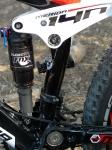מבחן אופניים מרידה 140 XT. בולם אחורי FOX RP23 מוכח ויעיל מאד עם שלושה מצבי פרופדאל ונעילה - אני אהבתי את המצב הקשה ביותר. צילום: פז בר