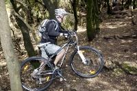 """נורקו צ\'ארג\'ר 9.1. בין האלונים והקטלבים של המירון. סלעים רטובים, עלים חלקלקים ו-14 ק\""""ג של אופניים הניבו קשת ססגונית של קללות.צילום: פז בר"""