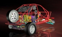 לקראת ראלי דאקר 2012. ריינג\' רובר איווק של סדנת אקסייט - מנוע 3.0ל\' דיזל של ב.מ.וו ותיבת הילוכים ZF. צילום: אקסייט