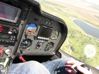 טיסת חוויה ב-TL סטינג S4. הנמכה מעל פארק קנדה. צילום: רוני נאק