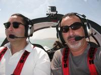 טיסת חוויה ב-TL סטינג S4. מרווח ונעים. מאחור הר סדום. צילום: רוני נאק