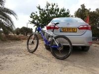 בייקמוביל מבחן רכב טויוטה קורולה החדשה. הדרך לבארי עברה בקצב מהיר, נוחות מרשימה וצריכת דלק טובה. חלל הפנים הגדול, ומזגן חזק - יתרונות לפני ואחרי רכיבת האופניים. צילום: רוני נאק