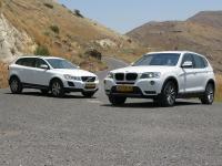 מבחן רכב משווה וולוו XC60 מול ב.מ.וו X3. לוולוו יותר שרירים וביצועים ל-ב.מ.וו X3 התנהגות כביש עדיפה וצריכת דלק מצויינת. צילום: רוני נאק
