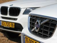 מבחן רכב משווה וולוו XC60 מול ב.מ.וו X3. ב.מ.וו X3 ו-וולוו XC60 מתחילים מכ-300,000 שקלים ועד כמעט 380 אלפים בגרסאות שנבחנו. צילום: רוני נאק