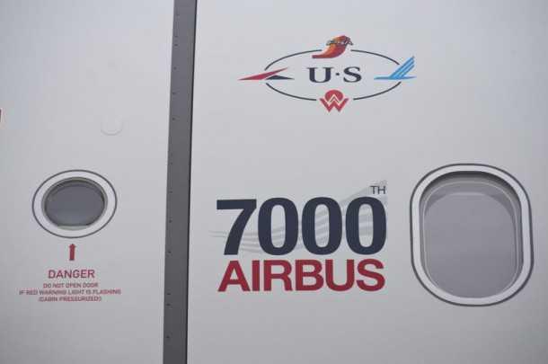 איירבס 321 מספר 7000 נמסר ללקוח US AIRWAYS פחות משנתיים מאז שנמסר המטוס ה-6000. צילום: AIRBUS