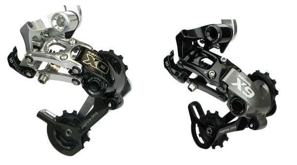 Sram-Type-2. מימין X9 שעולה 116 דולר ומשמאל X0 במחיר 250 דולרים. צילום: SRAM