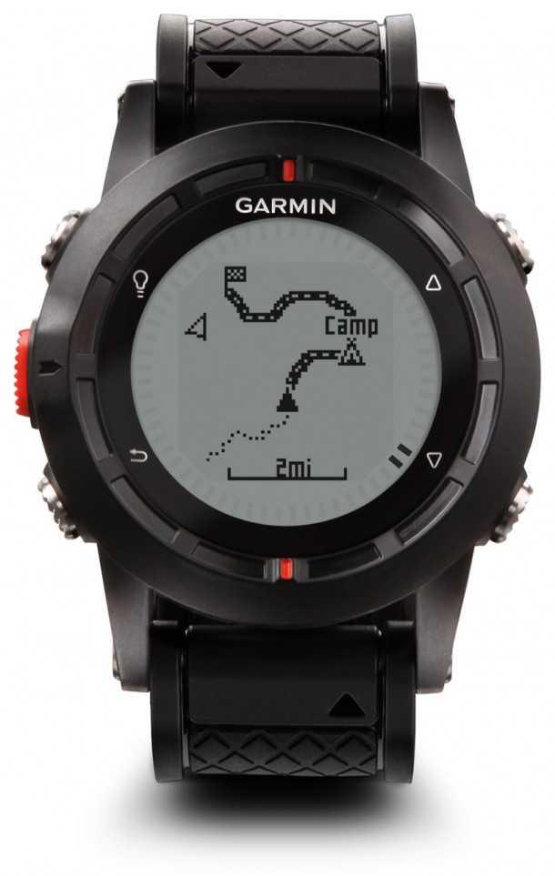 גרמין פניקס במצב ניווט GPS. שעון השטח החדש של גרמין מציג את כל הפונקציות הדרושות לניווט, הקלטה ושיתוף של מסלולי טיול. צילום: GARMIN