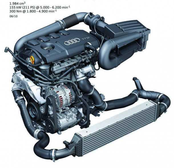 מבחן דרכים אודי Q3. מנוע 2.0 TFSI הוא סוכריה אמיתית. חזק, גמיש, חסכוני מחוץ לעיר ועם צליל נוכח בתוכה. צילום: AUDI