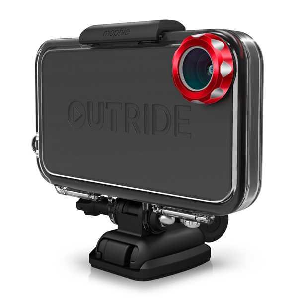 אאוטרייד משלב את העמידות של מצלמות האקסטרים מ-GO PRO יחד עם הקישוריות ויכולת השיתוף המיידית של iPhone 4 או iPhone 4s. צילום: יצרן