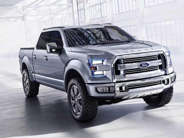פורד אטלס. פורד הפתיעה את מבקרי תערוכת דטרויט 2013 עם קונספט. מה שככל הנרא יתפתח להיות סדרה F החדשה לטנדרים של פורד. צילום: פורד
