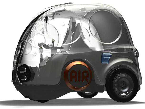 הונדה AIR ככה זה נראה אז. מכונית תצוגה להדגמת טכנולוגיית הנעת-אוויר משנת 2010. ביזארי או יישים? בפיז'ו-סיטרואן רצים עם זה קדימה. צילום: הונדה