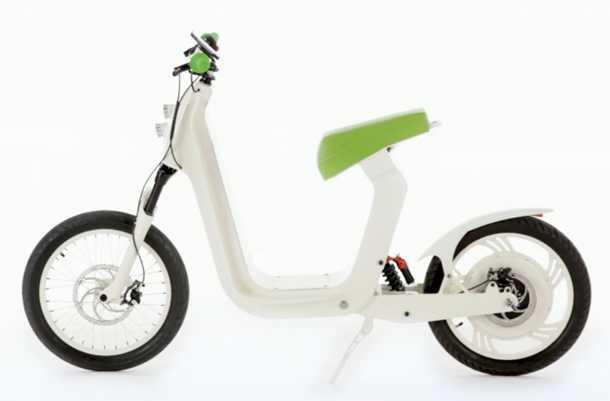 Xkuty. קטנוע חשמלי מינימאליסטי ומתקדם טכנולוגית. פתרון לתחבורה עירונית זולה ונטולת פליטה. צילום: Xkuty