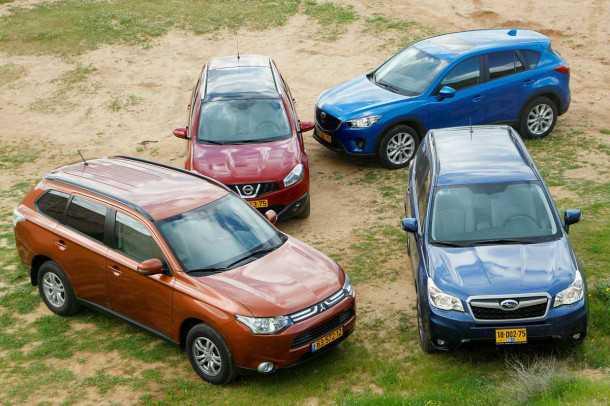 מבחן רכב משווה: מי מבציר רכבי הפנאי הכי שווה? סובארו פורסטר, מזדה CX5, מיצובישי אאוטלנדר או ניסן קשקאי? צילום: פז בר