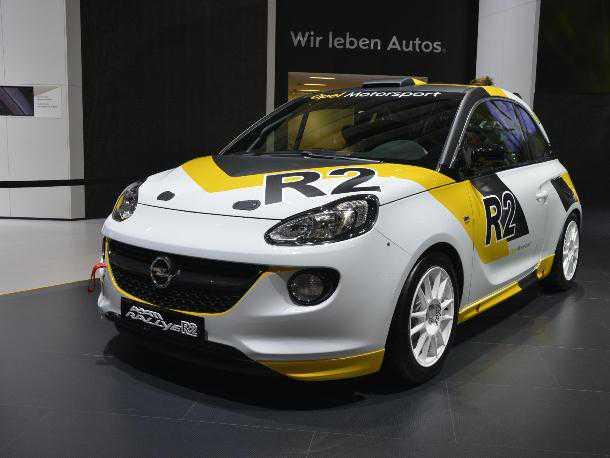 Opel Adam R2 קטנה לראלי העולמי. צילום: אופל