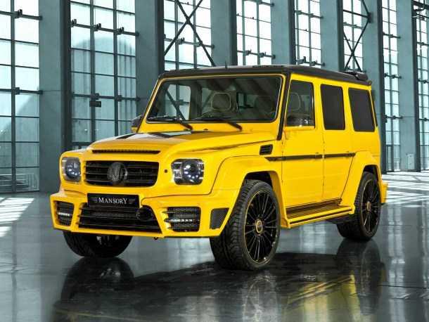 mansory gronos. צהוב וחינני - אף אחד לא יצחק יותר על מכוניות צהובות אחרי המפגש עם ה-G הזה. צילום: מנסורי