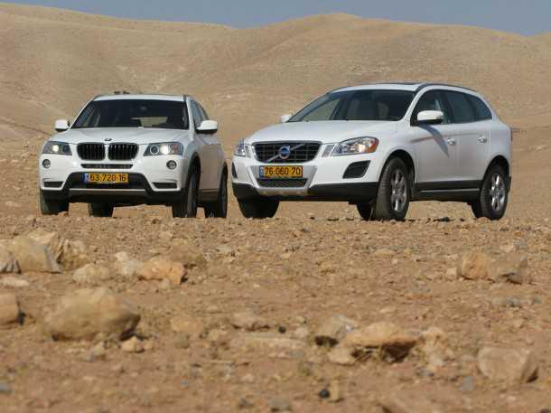 מבחן רכב וולוו XC60 מול ב.מ.וו X3. שני נציגים לקבוצה הנמכרת ביותר בשוק הרכב. וולוו וגם ב.מ.וו מגיעים מהקומה העליונה של איכות ומחיר. צילום: רוני נאק