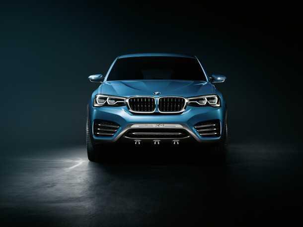 """ב.מ.וו X4. רכב תצוגה שיצורו יחל בארה""""ב בתחילת 2014. מרמז על המראה המעודכן של משפחת X וממשיך את מגמת הקיטון של הסגמנט. צילום: ב.מ.וו"""