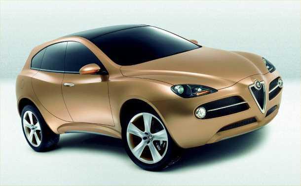 כבר ראינו אותה פעם... Alfa Kamal 2003. הפעם עם טכנולוגיית 4X4 של ג'יפ ועיצוב עדכני של אלפא רומאו. צילום: אלפא רומאו