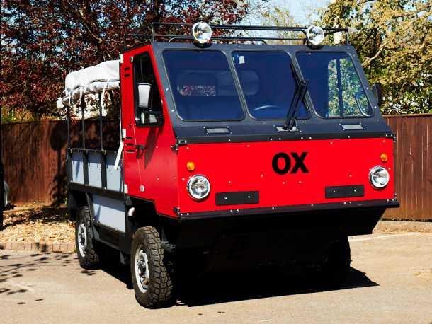 רכב שטח ועבודה לעולם השלישי - OX השור שיביא סיוע ליבשת השחורה אבל סביר יותר שלבסוף יצוייד במקלע כבד...צילום: יצרן