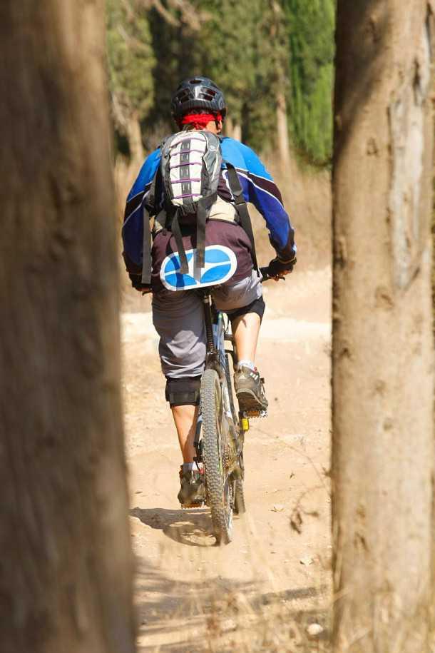 מבחן אופניים מרידה ביג 7. בין העצים בסינגלים של בן שמן למרידה התנהגות זריזה למדי. האחיזה בקרקע טובה מאוד וגם היכולת להתגלגל מעל למכשולים. צילום: פז בר